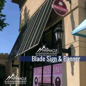 Blade Sign & Banner for Small Cakes in Snellville, GA