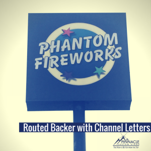 Backlit Channel Letters with Custom Aluminum Cabinet forPhantom Fireworks in Decatur, GA