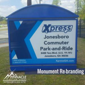Monument Refacing for Rebranding GRTA in Metro Atlanta, GA