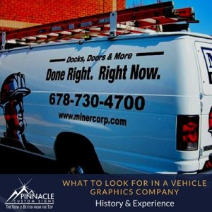 Look at the history and experience of the sign company
