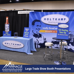Large Trade Show Booth Presentation | Holtkamp Heating and Air | Pinnacle Custom Signs