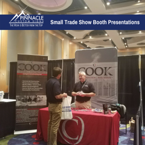 Small Trade Show Booth Presentation | Cook General Contracting | Pinnacle Custom Signs