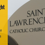 Shining Light into the Darkness for St. Lawrence Catholic Church with Outdoor Signs