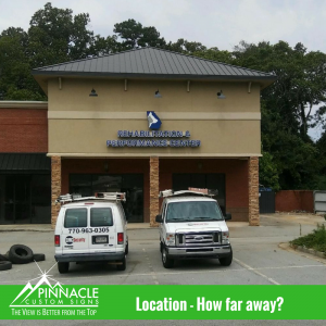 Know your distance and visibility | Channel Letters | Pinnacle Custom Signs | Atlanta, GA
