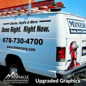 Upgraded Vehicle Graphics for Miner Corp. in Marietta, GA