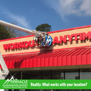 What works well with your surface | Channel Letters | Pinnacle Custom Signs | Atlanta, GA