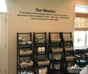 using vinyl decals to add your mission statement to a wall