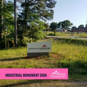 industrial monument sign acts as a landmark for individuals looking for your business