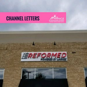 channel letter building signs help identify your location for customers.