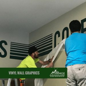 custom vinyl wall graphics for Pinnacle Bank