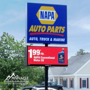 inform people about sales and products like in this sign from NAPA Auto Parts