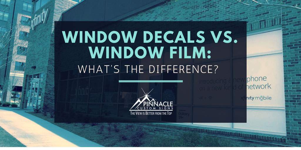 What is the difference between window film and window decals?