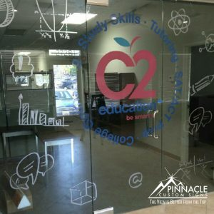 Door graphics for C2 Education