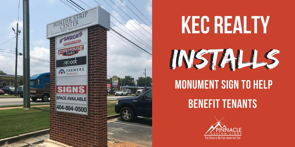 KEC Realty Installs Monument Signage to Help Benefit Tenants