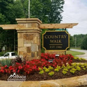 This subdivision sign for Country Walk in Powder Spring, GA.