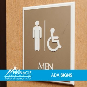 ADA signs are required by law and are very important for your business