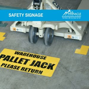 Safety signs help keep workers safe and keeps your workspace organized.