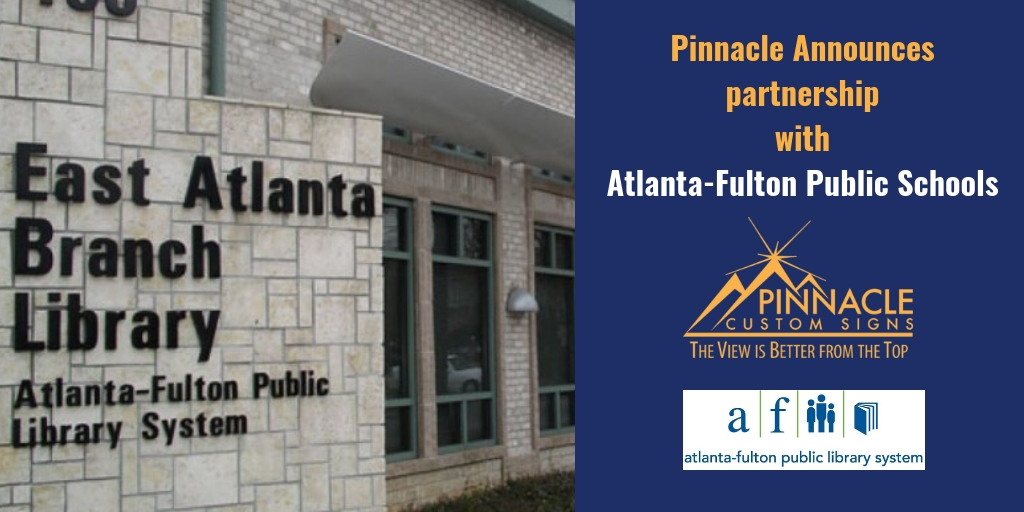 Pinnacle Custom Signs Awarded Contract for Atlanta Fulton Public Library System
