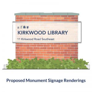 Proposed Renderings for the Monument Signage For the Atlanta Fulton Public Library System