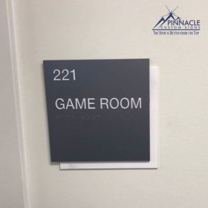 Rooms should have signs that are ADA compliant