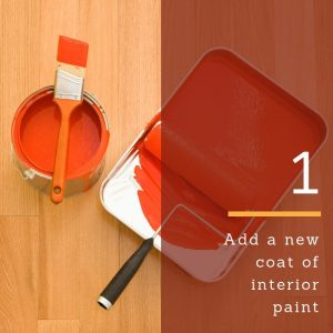 Add a new coat of interior or exterior paint