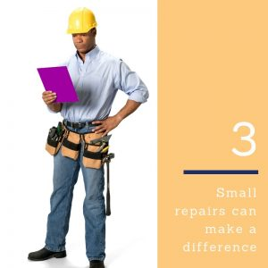small repairs can make a difference