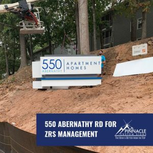 550 Abernath Apartment Homes Monument Sign