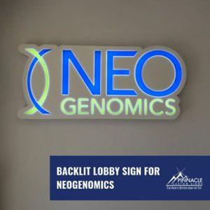 Neo Genomics logo sign