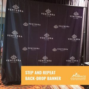step and repeat back drop banner