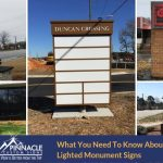 What you need to know about lighted monument signs