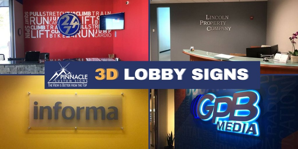 3D Offices Signs for your lobby