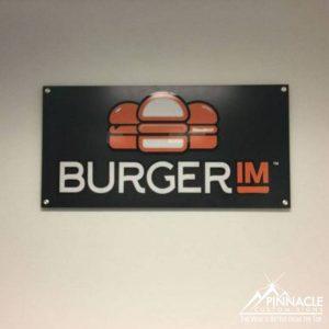 Custom layered arcylic sign for Burger IM