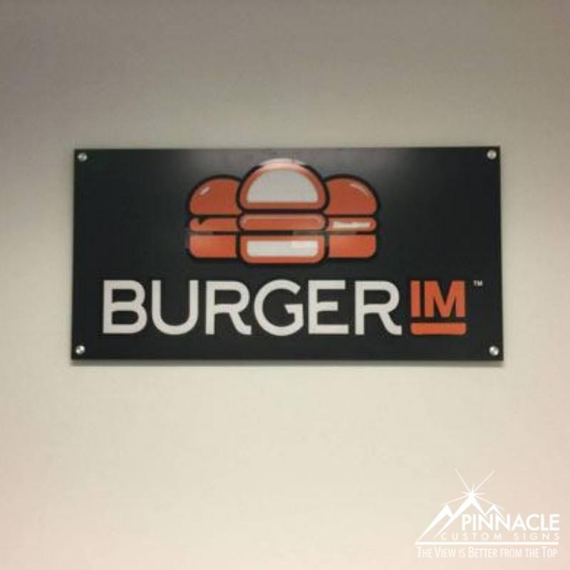Acrylic sign for Burger IM