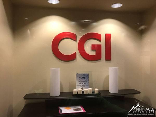 Logo sign for CGI, Inc.'s Atlanta Office