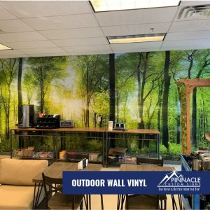 Use vinyl wall graphics to bring the outdoors indoors