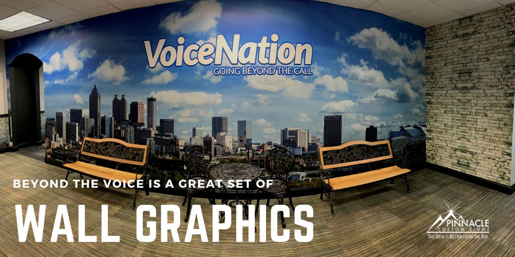 Office signage for VoiceNation