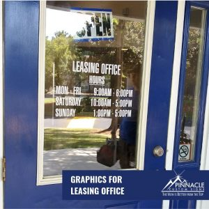 Every business needs window graphics with their business hours and information.