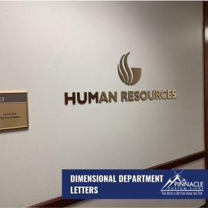 dimensional letter signs for the department lobbies
