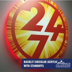 Acyrlic standoff signs can make better use of lighting by using a backlit