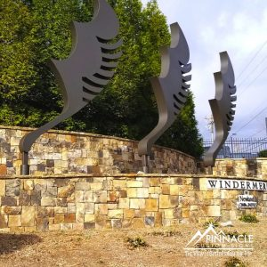 The old Windermere entrance sign for their community.