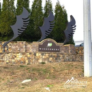 the new community entrance sign for Windermere