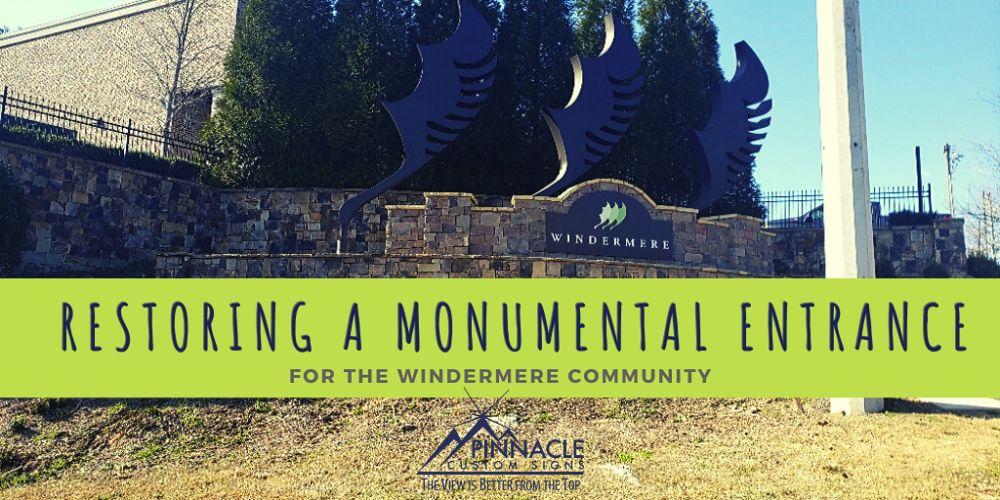 Community Entrance Sign restored in Cumming Ga