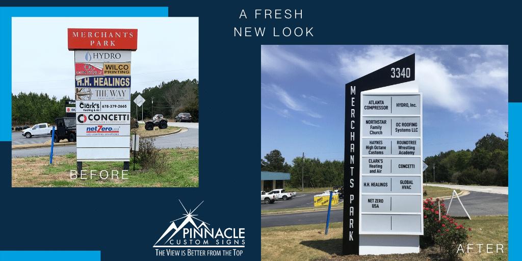 Monument Sign | Merchant's Walk | Hoschton, GA