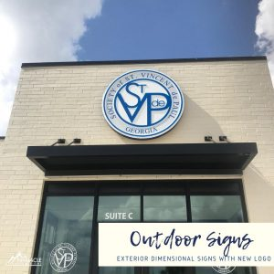 Outdoor Sign for St. Vincent DePaul