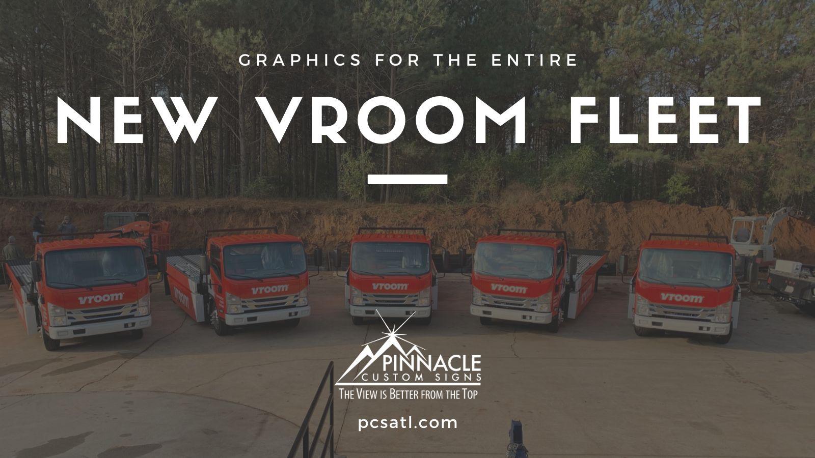 Fleet Wraps for Vroom Trucks